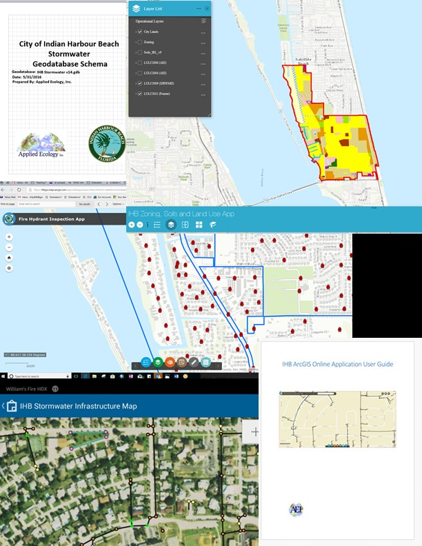 City of Indian Harbour Beach GIS program implementation (Infrastructure Life Cycle).
