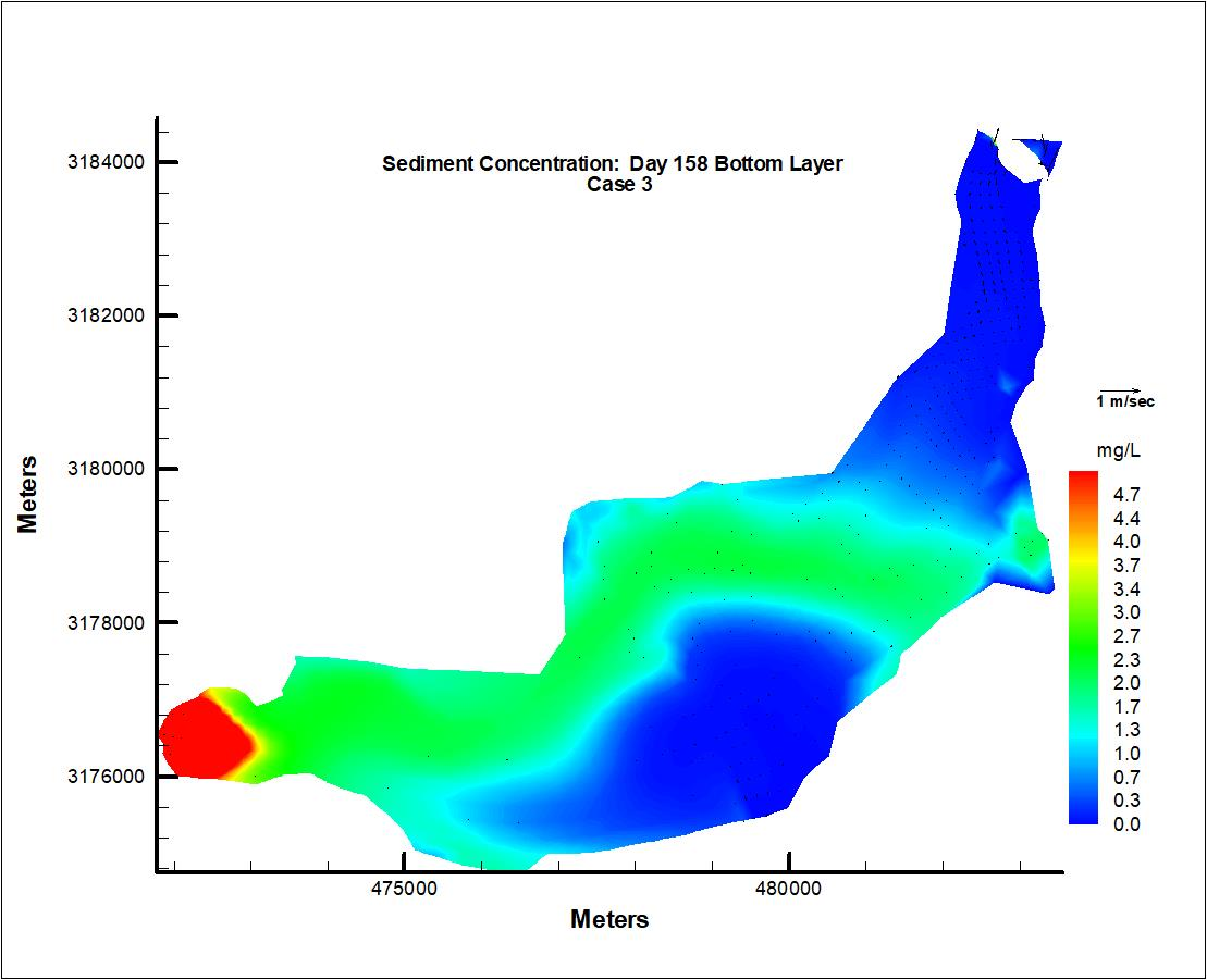 Predicted suspended sediment concentration in Lake Jesup, FL